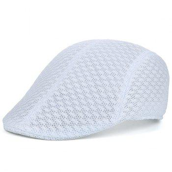 Breathable Hollow Out Mesh Newsboy Hat