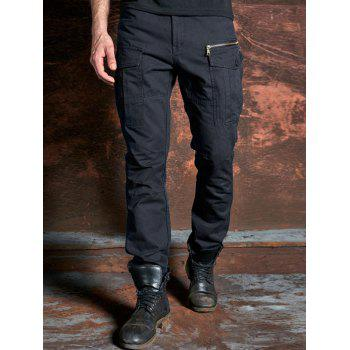 Zipper Pockets Design Cargo Pants
