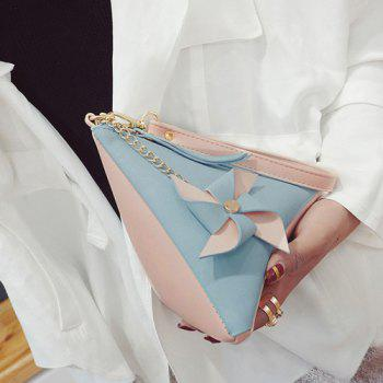 Color Blocking Triangle Shaped Wristlet -  BLUE