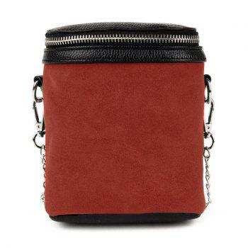 Suede Chain Crossbody Bag
