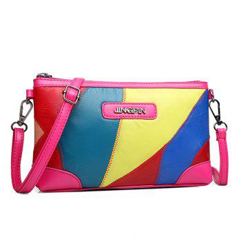 Stitching PU Leather Crossbody Bag