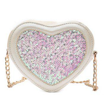 Sequin Heart Shaped Crossbody Bag