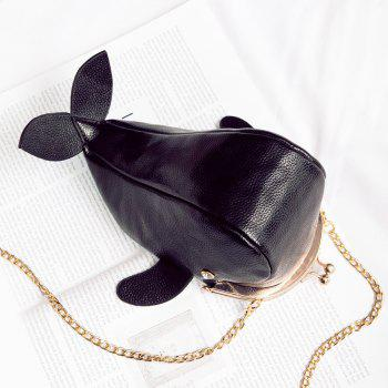 Funny Whale Shaped Kisslock Crossbody Bag