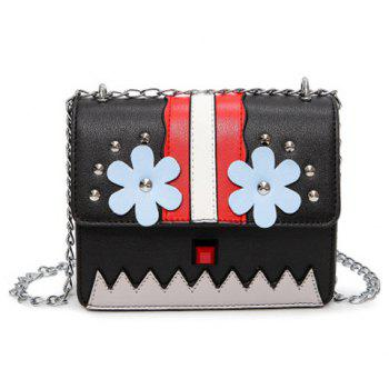 Rivet Flower Crossbody Bag