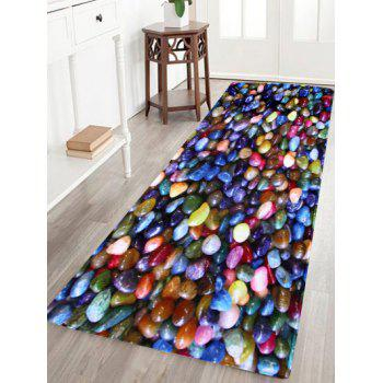 Colorful Stone Coral Velvet Anti Slip Floor Rug