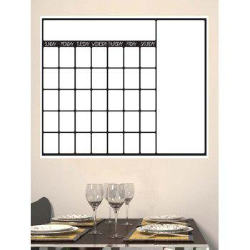Calendrier hebdomadaire White Board Graffiti Painting Wall Decal with Pen - Blanc
