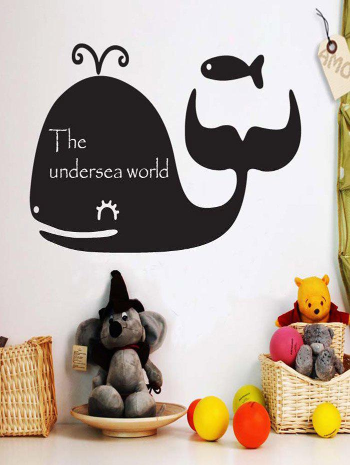 Cartoon Whale Blackboard Graffiti Wall Decal with Chalk random cartoon ceramic tile decal 1pc