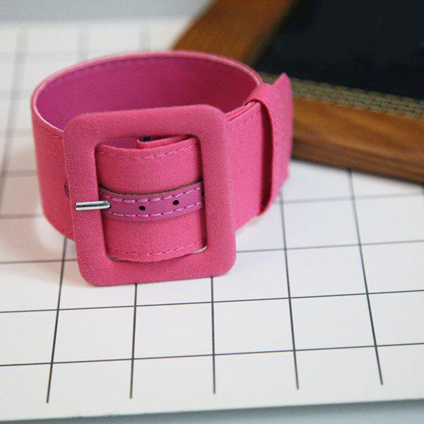 Artificial Suede Belt Shaped Ankle Cuff Anklet - ROSE RED