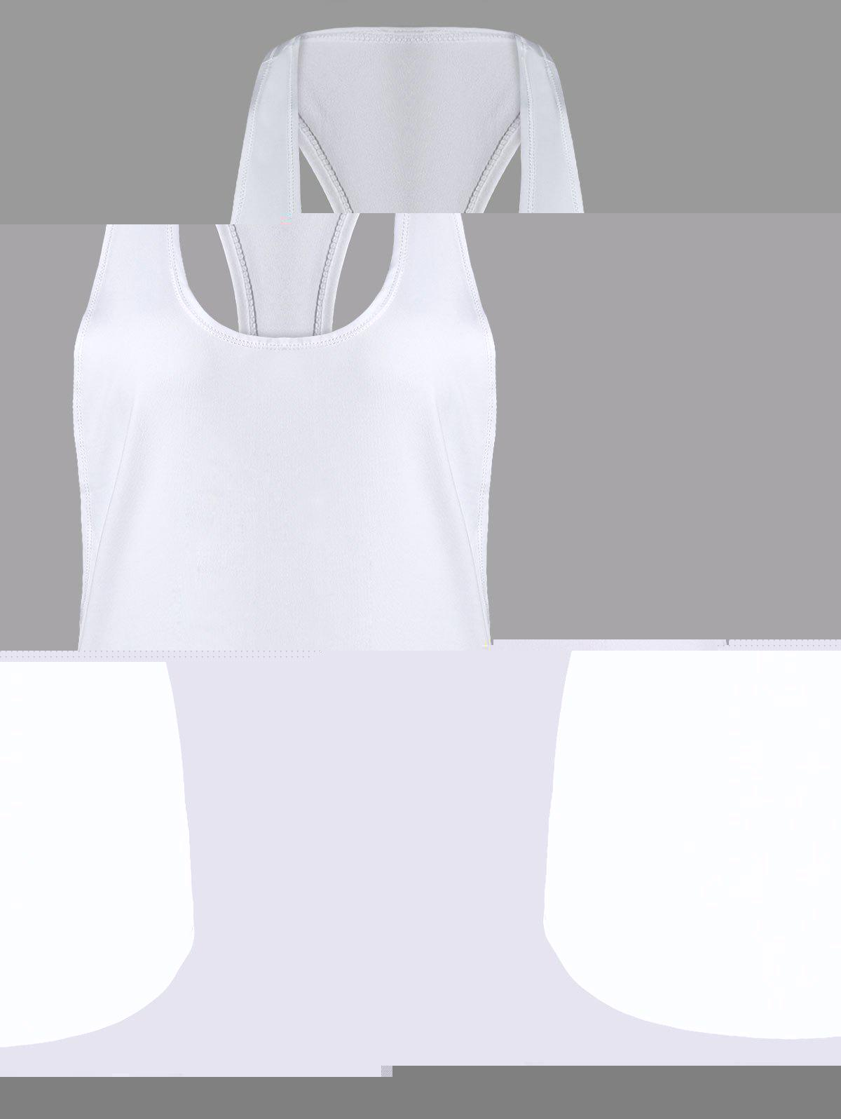 Sports Racerback Running Vest - WHITE XL
