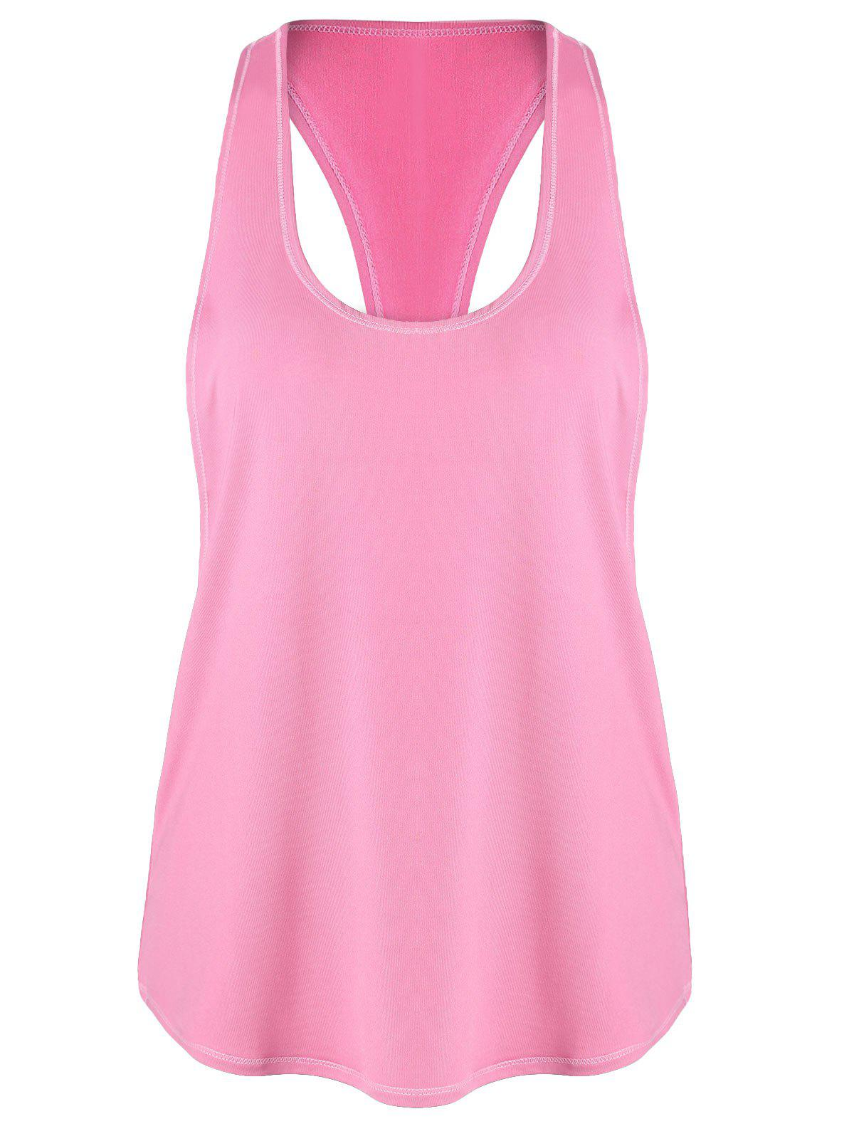 Sports Racerback Running Vest - ROSE PÂLE M