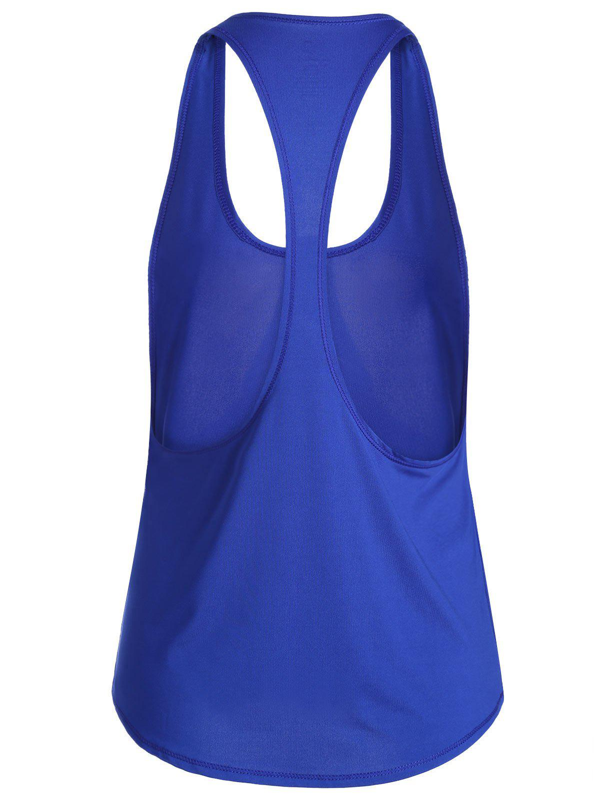 Sports Racerback Running Vest - BLUE XL