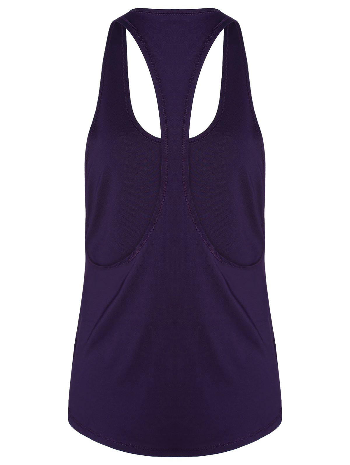 Sports Racerback Running Vest - DEEP PURPLE XL