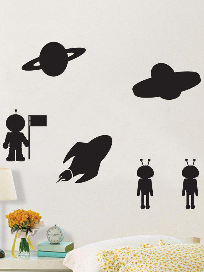 UFO Extraterrestrial Beings Blackboard Wall Sticker with Chalk corsair blackboard wall sticker wallpaper