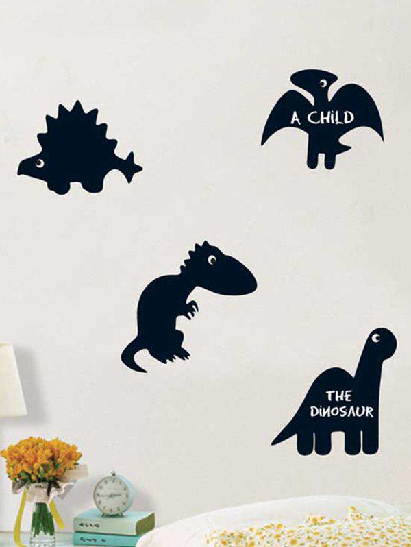Dinosaur Blackboard Cartoon Wall Sticker with Chalk corsair blackboard wall sticker wallpaper