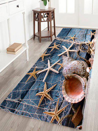 Starfish Conch Floor Coral Velvet Area Rug sunny beach starfish conch anti skid floor area rug