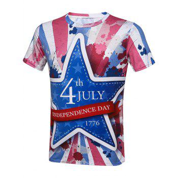 Tie Dye Independence Day Graphic T-Shirt