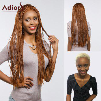Adiors Front Lace Long Senegal Twists Braids Synthetic Wig