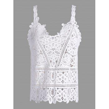 Crochet See Through Openwork Tank Top