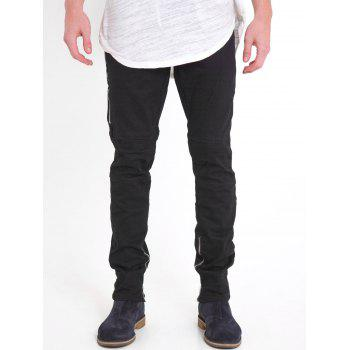 Zipper Embellished Slim Fit Jeans