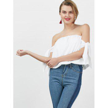 Off The Shoulder Bowknot Blouse - XL XL