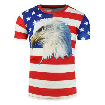 3D Eagle Print Patriotic T-Shirt