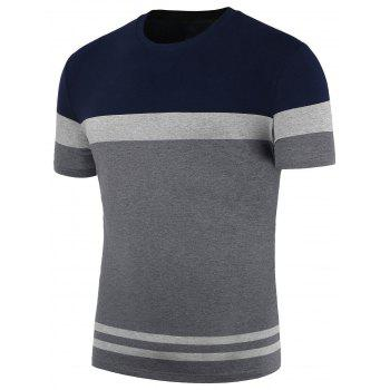 Colorblocked Crew Neck T-Shirt