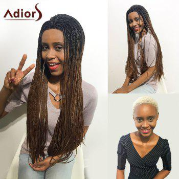 Adiors Afro Two Tone Braid Long Lace Front Synthetic Hair