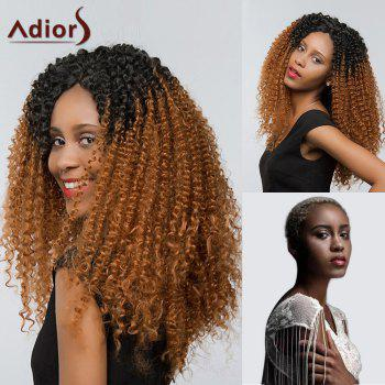 Adiors Side Part Deep Curly Two Tone Lace Front Synthetic Hair