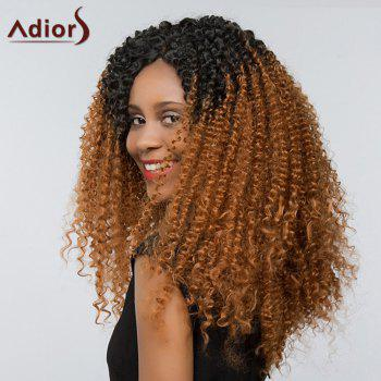 Adiors Side Part Deep Curly Two Tone Lace Front Synthetic Hair - B/3 26INCH