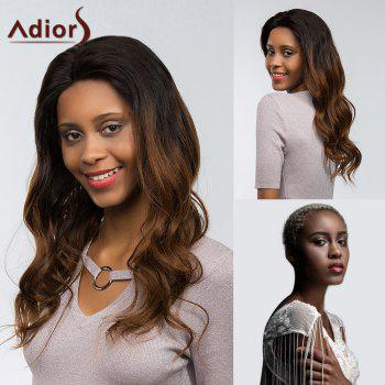 Adiors Dyed Fluffy Two Tone Body Wave Side Part Lace Front Synthetic Hair