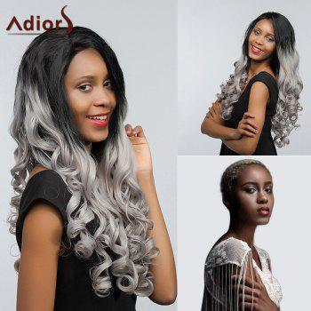 Adiors Long Two Tone Free Part Wavy Lace Front Synthetic Hair