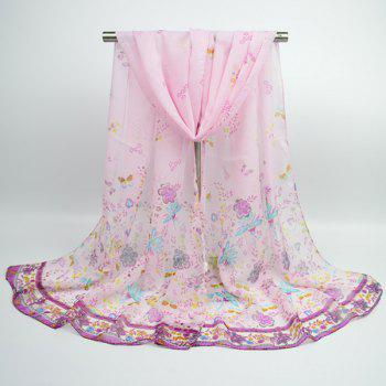 Butterfly Anthemy Printing Retro Lightsome Chiffon Scarf