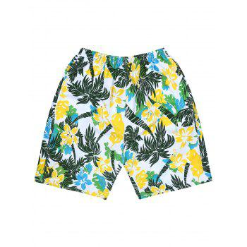 Coconut Tree Tropical Flower Board Shorts