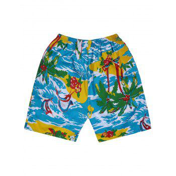 Palm Tree Print Beach Shorts