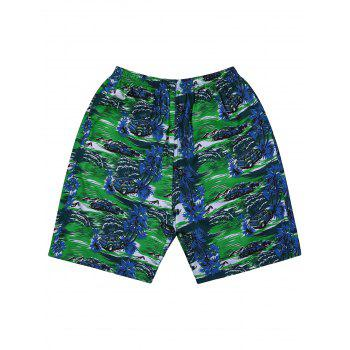 Coconut Tree Tropical Print Board Shorts