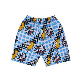 Graphic Polka Dot Board Shorts
