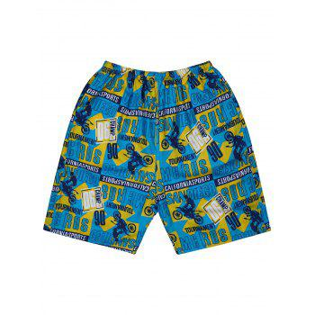 Sports Graphic Print Board Shorts
