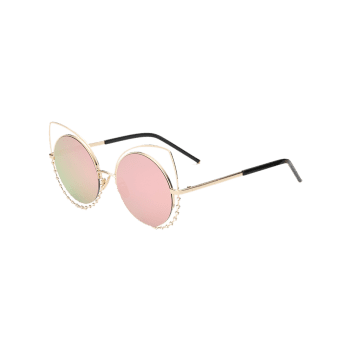 Hollow Out Cat Eye Shape Rhinestone Sunglasses