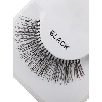 Dense Lengthen Dents Fake Eyelashes - Noir