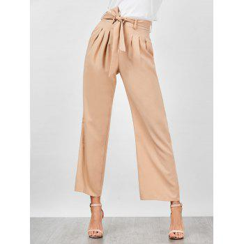 High Waisted Belted Wide Leg Pants