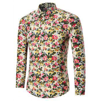 All Over Floral Print Plus Size Shirt