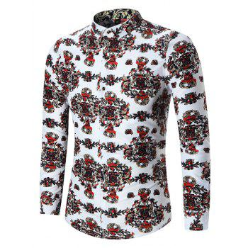Plus Size Abstract Print Shirt