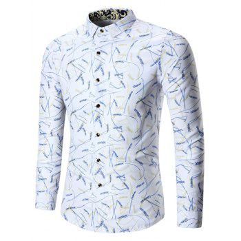 Plus Size Rice Ear Printed Shirt