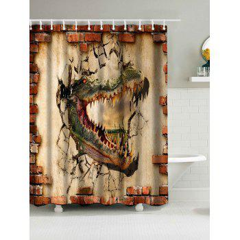 Waterproof Fabric Shower Curtain with Dinosaur Print