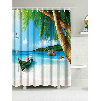 Hawaii Beach Print Waterproof Bathroom Shower Curtain