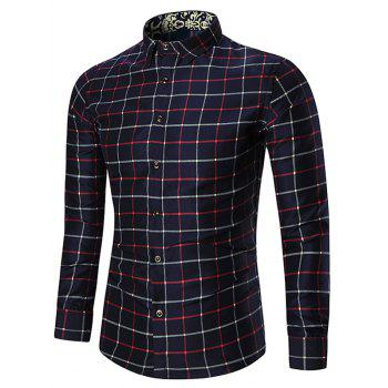 Long Sleeve Plus Size Checked Shirt