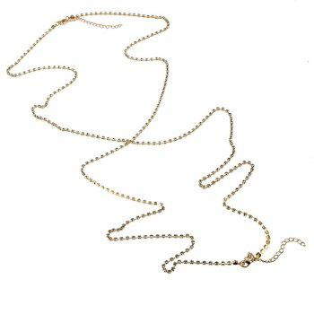 Rhinestoned en forme de X Sandbeach Body Chain - Or
