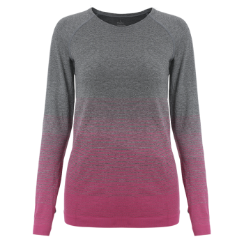 Col rond Ombre Yoga Gym T-shirt - rose M