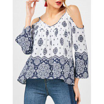 Dew Shoulder Bohemian Blouse