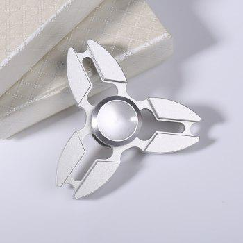 Fidget Funny Toys Stress Relief Finger Gyro - Blanc Argent 7*7CM